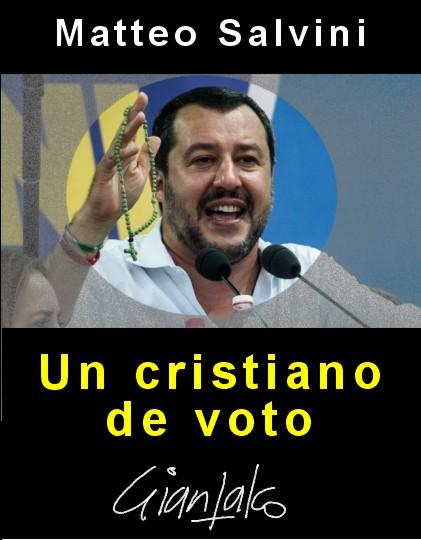 Matteo Salvini cristiano de voto