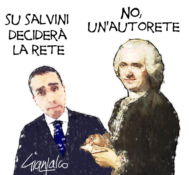 Sulla rete il materasso per Salvini, ma Di Maio casca dal letto