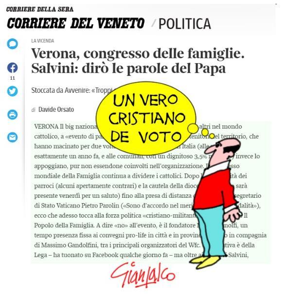 Salvini, il portatroce del Papa